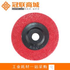 批发尼龙轮 爱丁保红色黑盖抛光纤维轮 打磨 100×12×16