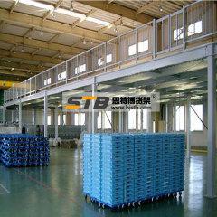 北京仓储货架厂家 阁楼式平台货架 中型货架 仓库货架库房钢平台