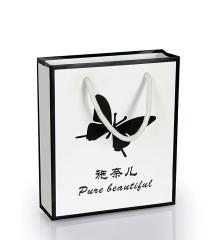 厂家批发 白卡纸手提袋 包装手提袋定做 服装手提袋混批 可印LOGO