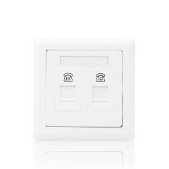 ABB开关插座 德逸系列 二位电话/电脑插座