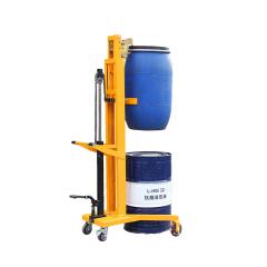 手动液压油桶堆高车 油桶堆高机