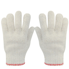 华特棉纱手套劳动手套劳保线手套纱手套劳保工作作业手套粗纱加厚